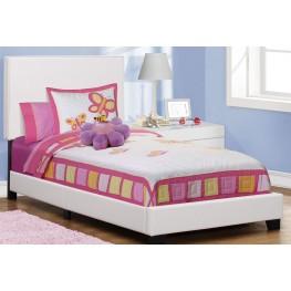 Twin White Platform Bed