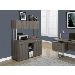 Dark Taupe Reclaimed-Look Office Storage Credenza