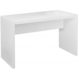 White Hollow-Core Computer Desk