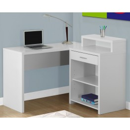 White Corner Storage Computer Desk