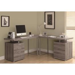 7326-3 Dark Taupe 3 Piece Desk Set