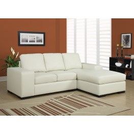 Ivory Match Plastic Block Leg Sofa Sectional
