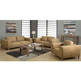 Tan Microsuede Living Room Set