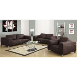 Chocolate Brown Microsuede Living Room Set