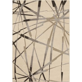 Epiphany Soft Abstract Thunder Ivory Large Area Rug
