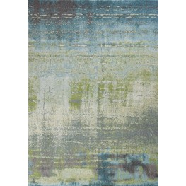 "Illusions Blue and Green Escape 91"" X 63"" Rug"