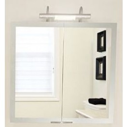 "Axara 39"" Anodized Mirror Cabinet"