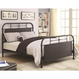 Menifee Textured Black Twin Metal Bed