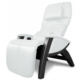 Svago Ivory Leather Lusso Chair With Black Wood Legs