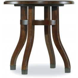 Palisade Brown Round End Table