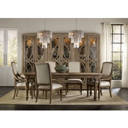 Solana Brown Rectangular Extendable Dining Room Set