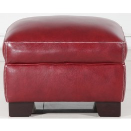 Midtown Red Ottoman