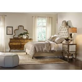 Sanctuary Beige Bling Tufted Platform Bedroom Set