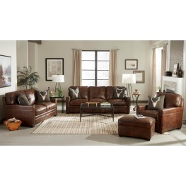 Cole Polermo Castagna Leather Living Room Set