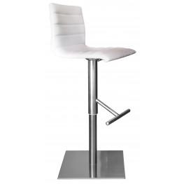 Jam Skill White Stainless Steel Swivel stool