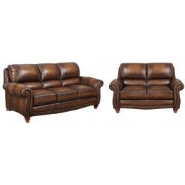 James Monaco Leather Living Room Set