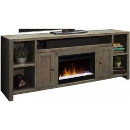 "Joshua Creek 84"" Brown Super Fireplace Console"