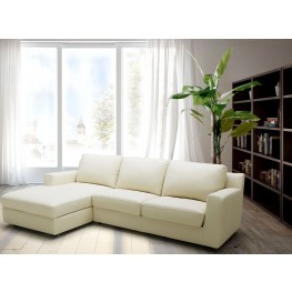 Jenny Beige Leather LAF Sectional