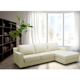 Jenny Beige Leather RAF Sectional