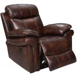 Shae Joplin Brown Leather Power Reclining Chair