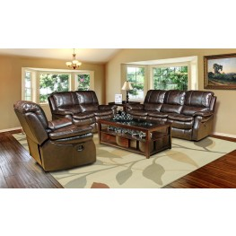 Juno Nutmeg Dual Power Reclining Living Room Set