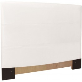 FQ Avanti White Slipcovered Headboard