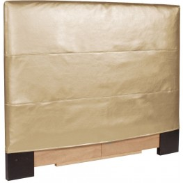 Shimmer Gold King Slipcovered Headboard