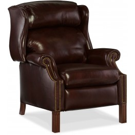 Finley Dark Brown Leather Recliner