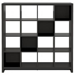 New York Skyline Modern Mocha 16-Cube Bookcase / Room Divider