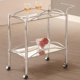 910077 Chrome Serving Cart