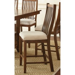 Kayan Rich Oak Counter Chair Set of 2