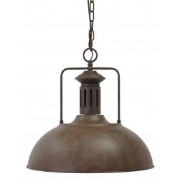Antique Brown Metal Pendant Light