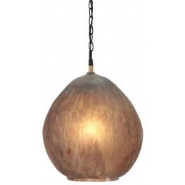 L000128 Brown Glass Pendant Light