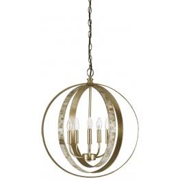 Moshe Silver Leaf Metal Pendant Light
