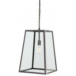 Danyale Clear and Black Glass Pendant Light