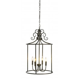 Jarah Antique Bronze Metal Pendant Light