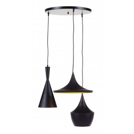 Jolanta Black and Gold Metal Pendant Light