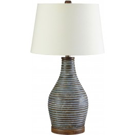 Jehan Antique Green Terracotta Table Lamp
