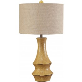 Jenci Antique Yellow Ceramic Table Lamp