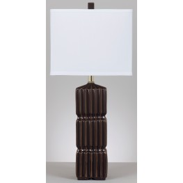 Ranissa Dark Brown Ceramic Table Lamp Set of 2