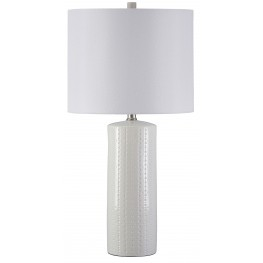 Steuben White Ceramic Table Lamp Set of 2