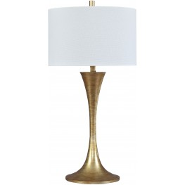 Joakim Antique Brass Metal Table Lamp