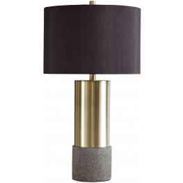 Jacek Gray and Brass Metal Table Lamp Set of 2