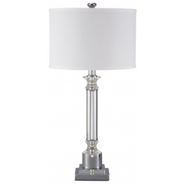 Marlon Silver Metal Table Lamp