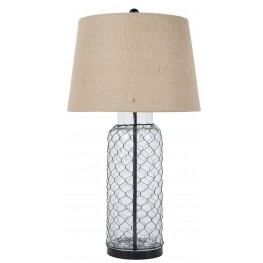 Transparent Glass Table Lamp