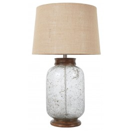 L430204 Transparent Glass Table Lamp