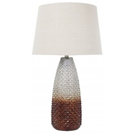 Brown/Silver Glass Table Lamp