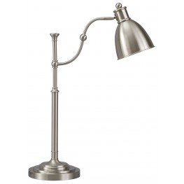 Shavaun Brushed Silver Metal Desk Lamp