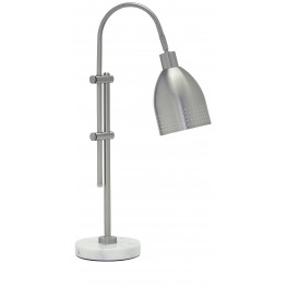 Asabi Silver and Marble Metal Desk Lamp