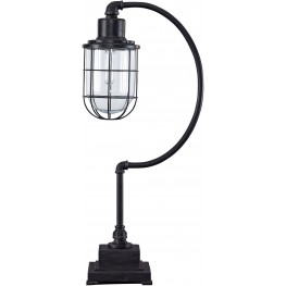 Jae Antique Black Metal Desk Lamp